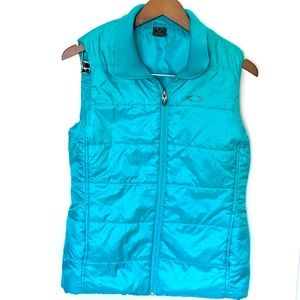 Teal Oakley Puffer Vest size Small
